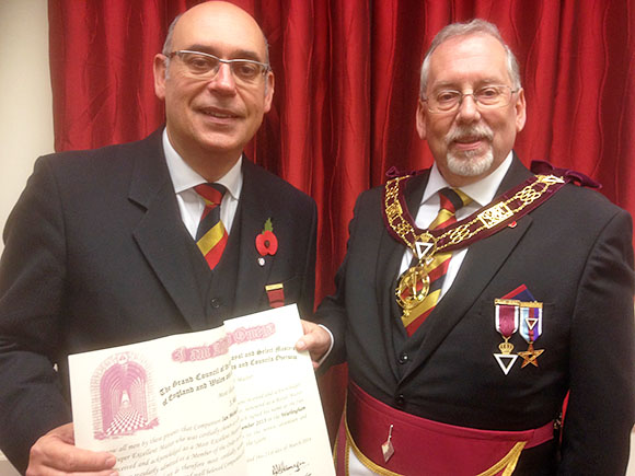 The District Grand Master visits Warlingham Council No 161